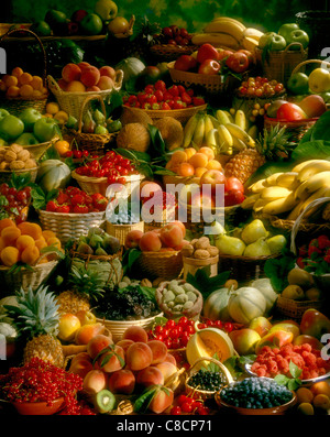 large composition of fruit - Stock Photo