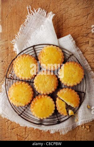 Lemon shortbread biscuits - Stock Photo