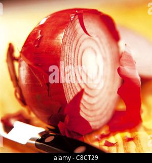 Sliced red onion - Stockfoto
