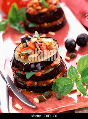 Provençal layered aubergine - Stock Photo