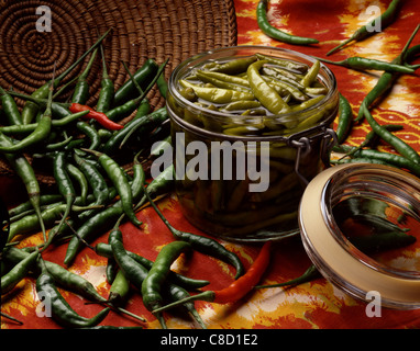 Mexican peppers in vinegar - Stockfoto