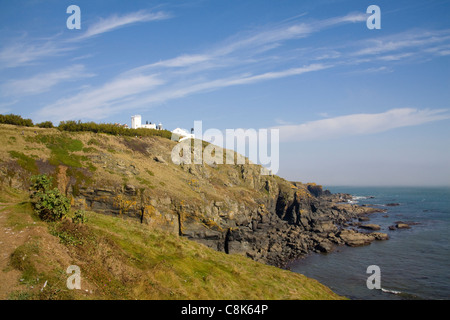 Lizard Point Cornwall England UK Lighthouse on the headland of most southerly part of Britain - Stock Photo