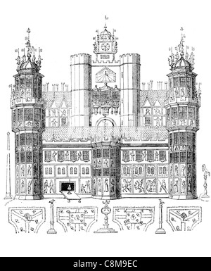 Nonsuch Palace Tudor royal palace Henry VIII Surrey England Renaissance design ornate - Stockfoto