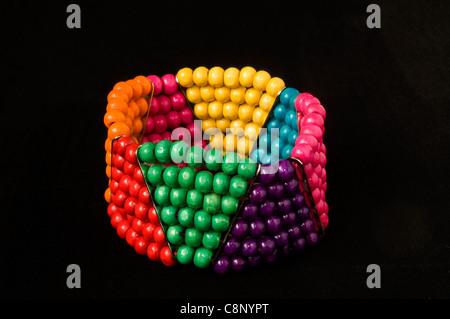 Beaded bracelet in studio setting - Stock Photo