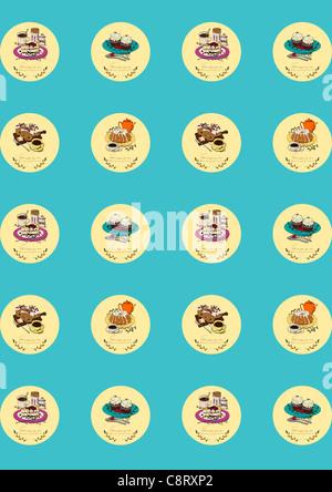 Essen-Icon-Set - Stockfoto