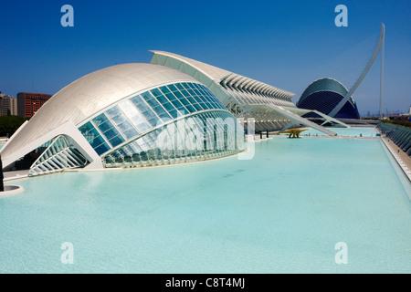 City of Arts and Sciences. Valencia, Spain. - Stock Photo