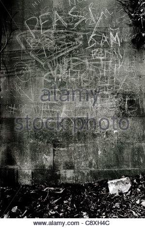 chalk graffiti - Stock Photo