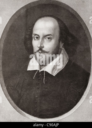 William Shakespeare, 1564 - 1616. English poet and playwright. From Bibby's Annual published 1910. - Stock Photo