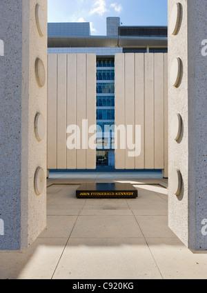The John F Kennedy Memorial, in John F Kennedy Memorial Plaza, Dallas, Texas, USA - Stock Photo