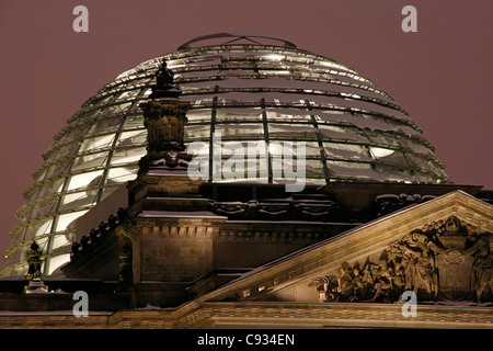 The German Parliament in the old Reichstag Building. Berlin, Germany - Stock Photo