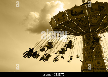 Merry-Go-Round at Gröna Lund, Stockholm - Stock Photo