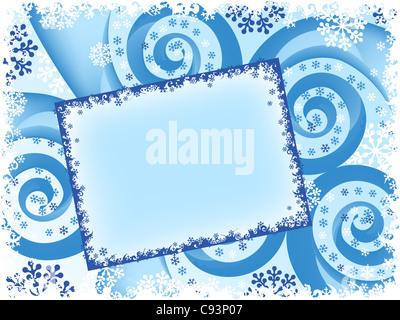 holiday Christmas spiral abstract card. vector - Stockfoto