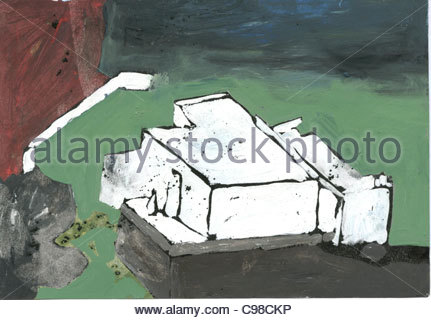Home on the Canary Islands Houses Architecture Buildings - Stock Photo
