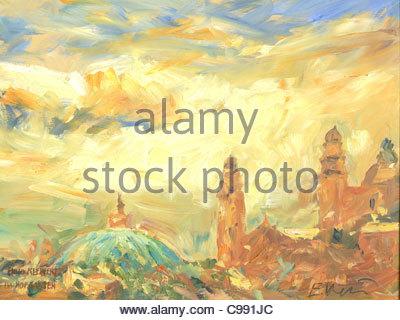 Series Munich Hofgarten Theatinerkirche - Stock Photo