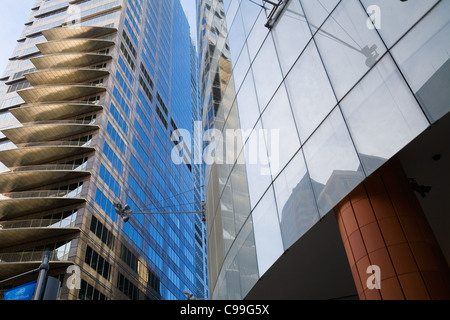 Modern architecture in Sydney's central business district.  Sydney, New South Wales, Australia - Stock Photo
