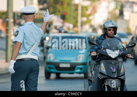 Policeman Directing Traffic On Front Street In Hamliton