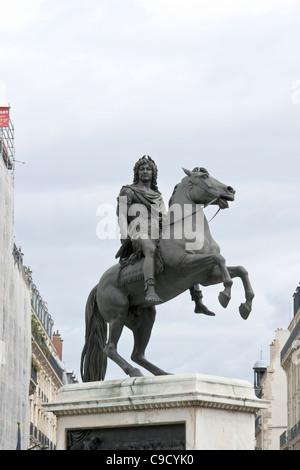 Louis XIV, Place des Victoires, Paris - Stock Photo