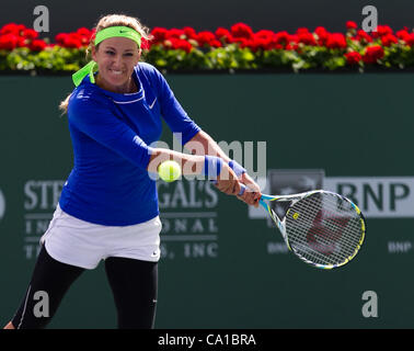 March 18, 2012 - Indian Wells, California, U.S - Victoria Azarenka (BLR) in action during the women's singles finals - Stock Photo