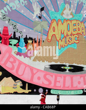 May 08, 2004; Los Angeles, CA, USA; Born in 1990 in Berkeley, California, Amoeba Music is inspired by many of the - Stock Photo