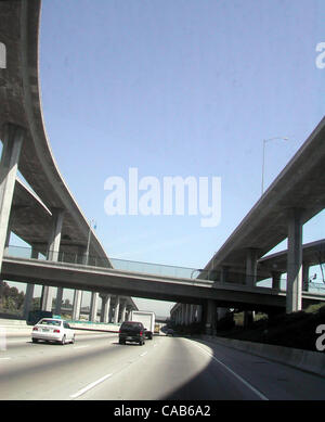 May 08, 2004; Los Angeles, CA, USA; One of the many freeways in Los Angeles. - Stock Photo