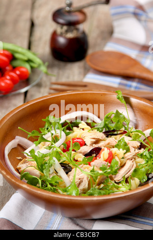 Pasta salad with tuna - Stock Photo