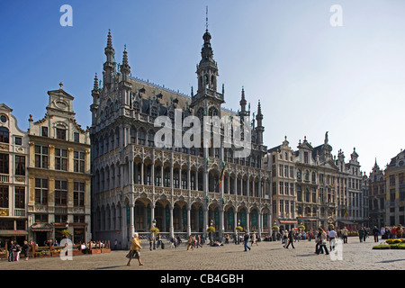 The Maison du Roi / King's House / Broodhuis / Breadhouse at the Grand Place / Grote Markt, Brussels, Belgium - Stock Photo