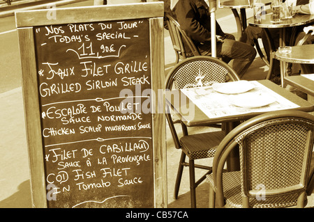 Restaurant in Paris - Stock Photo