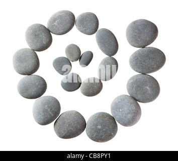 Spiral of pebbles (limestone). - Stock Photo