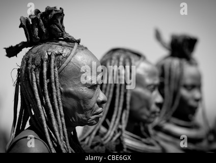 Group Of Muhimba Women, Village Of Elola, Angola - Stock Photo