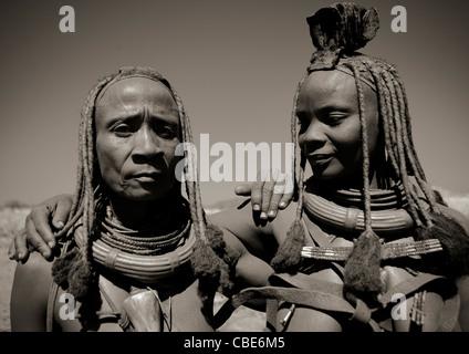 Muhimba Women, Village Of Elola, Angola - Stock Photo