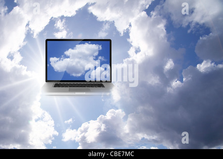 A Cloud Computing Technology Concept - Stock Photo