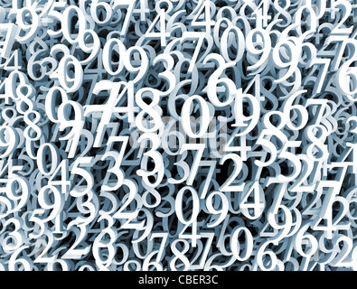 3d numbers backgournd - Stock Photo