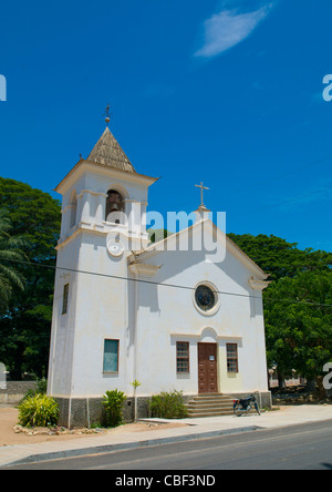 Church In The Village Of Dombe Grande, Angola - Stock Photo