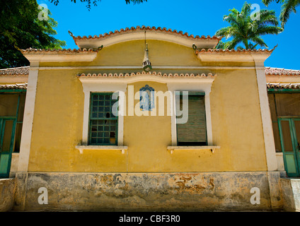 Chinese House In The Village Of Dombe Grande, Angola - Stock Photo