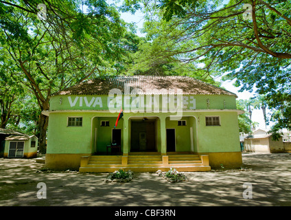 School In The Village Of Dombe Grande, Angola - Stock Photo