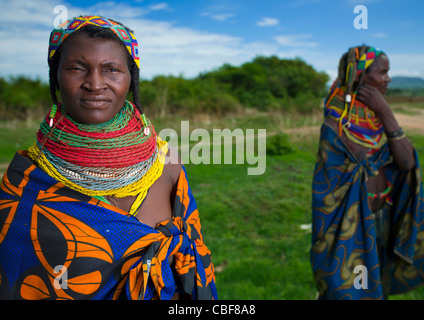 Mwila Women With Togas, Chibia Area, Angola - Stock Photo