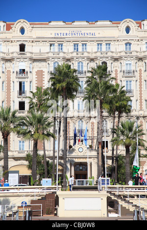 Carlton Hotel, Carlton InterContinental, La Croisette, Provence, Cote d'Azur, French Riviera, Mediterranean, France, - Stock Photo