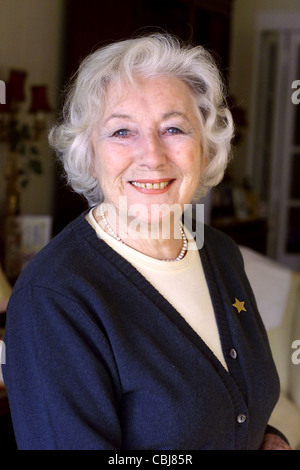 Dame Vera Lynn at her home in Ditchling East Sussex - Stock Photo