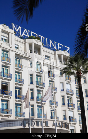 Hotel Martinez, Cannes, Cote d'Azur, Alpes-Maritimes, Provence, France, Europe  - Stock Photo