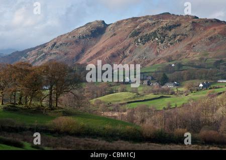 Langdale view of Lingmoor Fell - Stockfoto
