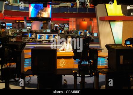 Al Jazeera Tv Arabic Channel News Anchor Lina Zahreddine