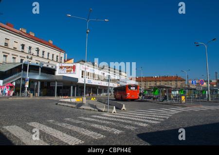 Praha Florenc Autobusove Nadrazi main long distance bus station Prague Czech Republic Europe - Stock Photo