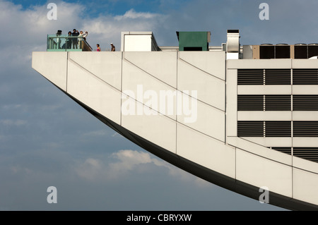 Details of the viewing platform of The Peak Tower on top of the Victoria Peak, Hong Kong - Stock Photo