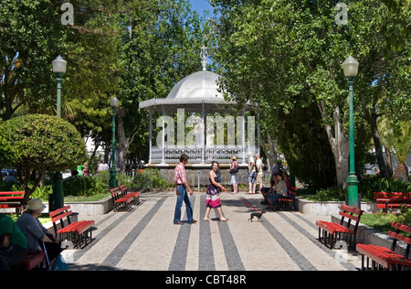 Park, town centre, Tavira, Eastern Algarve, Portugal - Stock Photo