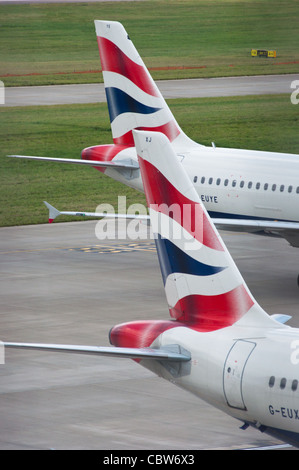 British Airways aircraft at Terminal 5 of Heathrow airport, London, England. - Stock Photo