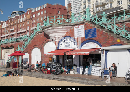 The World famous Pump Room ice cream parlour on Brighton seafront, East Sussex, UK. - Stock Photo