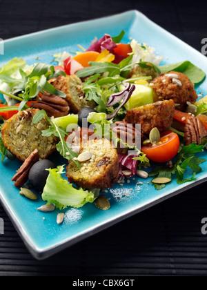 falafel salad - Stock Photo