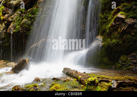 Waterfall close-up for wallpaper or backgrounds - Stock Photo