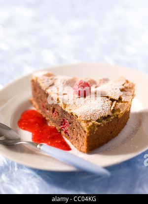 Cocoa Smooth Cake - Stock Photo