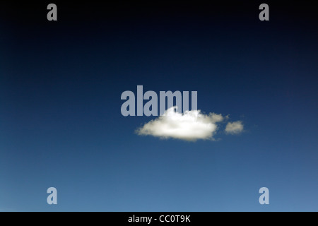 One Single Cloud in sky - Stock Photo